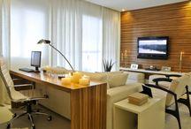 Sala + escritório / Escritório + sala de estar