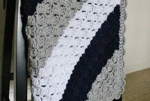 Black and white corner to corner blanket