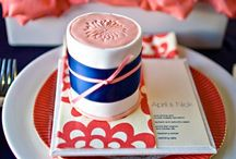 Navy and Coral Weddings