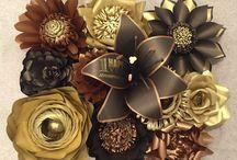 kâğıt çiçekler