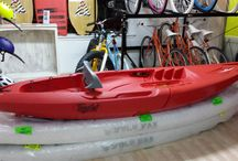 Tequila Kayaks!! / These Kayaks are Different from your Ordinary. They are detachable!! The Tequila Kayak comes with 3 pieces. You can add a middle piece for when you want a Two Seater Kayak and if you just want to paddle on your own, just remove it and there you have it, These are very durable & lightweight!