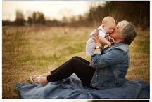 Focení s babičkou