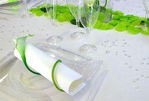 table mariage vert
