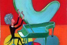 Piano paintings