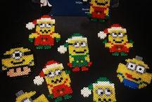 hama beads christmas snowman