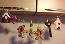 Felt creations / Handmade gingerbread family