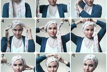 tutorial hijab shawl