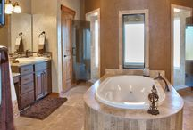 Masterful Retreats / Turn your master bath into an oasis, a sanctuary, a retreat from the daily grind.  As a custom home builder, we love today's trends in master baths from walk-in showers to statement tubs.