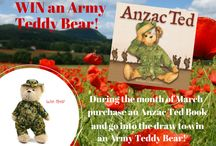 WIN an Army Teddy Bear Competition / Buy an Anzac Ted book in March 2015 and go into the draw to WIN an Army Teddy Bear! Competition open only to Australian residents.