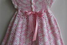 vestidos de croche infantil