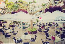Terraza El Lagar de Nemesio / Cuando llega el buen tiempo, todos nuestros clientes pueden provar de nuestra cocina y disfrutar con las vistas de la fuente de la mariblanca, mandada construir por Carlos III