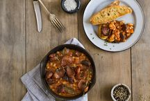 Is With Chorizo. / Is delicious recipes with chorizo. Chorizo is good.