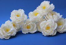 Bujor si floare de mac din zahar / Flori zahar: Ideal pentru torturi de nunta
