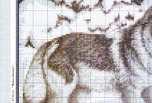 Vyšívání - vlci