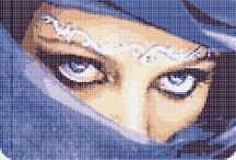 Cross stitch - Arabians