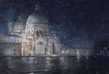 FBA Collections: Venice / Artists from the Federation of British Artists painting scenes of Venice.