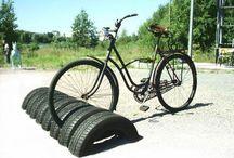 bicicletario pneu