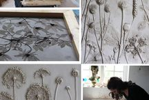 Clay plaster decorations