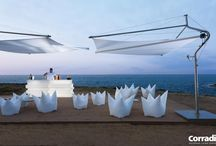 zonwering awning / Design parasols  Contemporary pergola systems and pergotendas.  Noctum: conceptual interior studio for modern, contemporary high-end design. Turn-key implementation in private and contract environments.