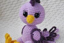crochet amigurumi oiseau