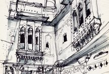 sketch and drawning / Cool architectures from Pinterest