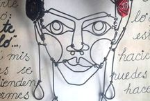FRIDA KAHLO / mis personajes en el arte .alambre