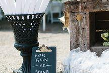 Wedding details / Yard games, trick or treat candy bar, chalk boards, invites  / by Whitney Beckett