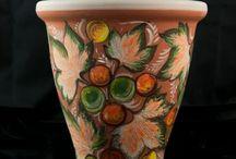 Macetas pintadas / Macetas de barro y cerámica pintadas y decoradas