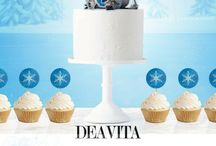 Frozen cakes and party decor