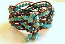 Beads - memory wire bracelets