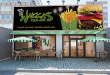 Wakkas Organics / Promotional images and visualisations for the Wakkas Organics Certified Organic Restaurant Franchise