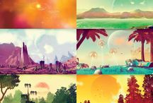 No Man's Sky / An upcoming game that lets you explore a procedurally generated universe.