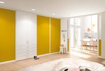 Room dividers // Raumteiler / Gleittüren von raumplus können auch als praktische Raumteiler fungieren und trennen verschiedene Funktionsbereiche voneinander ab. Ganz nach Bedarf können Sie sie öffnen oder wieder schließen: aus einem Raum mach zwei, mach einen. Die Gleittüren können selbstverständlich auch mit Trennwandelementen kombiniert werden. So finden Sie für jede Raumsituation die passende Lösung.  // raumplus sliding doors can also be used as practical room dividers to section off various zones.