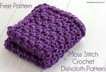 Moss stich dishcloth
