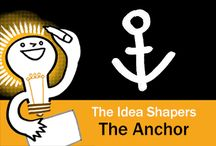The Idea Shapers: The Anchor / In her 2016 book The Idea Shapers, Brandy Agerbeck makes visual thinking attainable and enjoyable through a set of 24 Idea Shapers. The Anchor is the fifth visual thinking concept in the third step, CONNECT + CONTAIN.