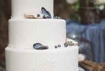seaside themed wedding cakes