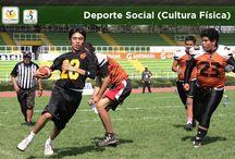 Deporte Social (Cultura Física) / El deporte y la cultura física constituyen hoy en día un aspecto para la integración social y el mejoramiento de la calidad de vida.