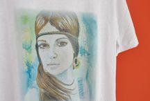 Camisetas Watermarycolors / Camisetas impresas digitalmente con mis ilustraciones