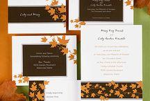 Leaves / Leaf Wedding Theme Ideas