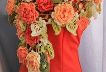 scarf crochet flower
