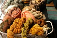 Natural wool dying