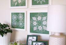 framed doilies