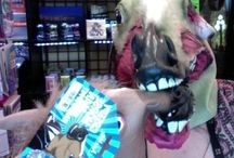 Masks / Choose as you like, we can't keep these things on the shelf. Play it strait and narrow with a lovely lady horse, or maybe you like the looks of the crow, the Zombie Horse is always nice especially on a Monday! Bad hair day, no sweat there is a unicorn with your name on it! | www.kimprints.com