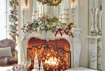 Christmas Fireplace Mantel Decoration Ideas / by Verena Paul