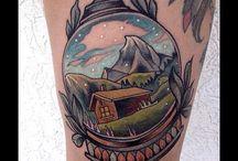 Snowglobe tattoo