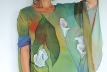 Hand Painted Scarves / by Gina Terry