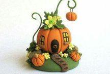 Art - керамика - сказочные домики