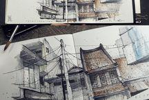 Arch sketchbook