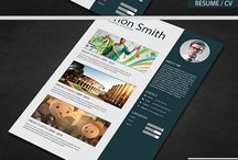 Creative Resume /  Resume / cv : – The perfect way to make the best impression. Strong typographic structure and very easy to use and customise. – The resume have a very organized and named layers, really easy to customize including 03 pages and more room for the work experience section.