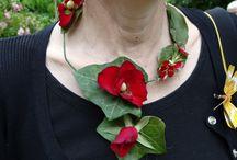 Bijoux en fleurs naturelles